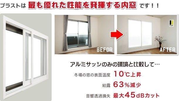 プラストは最も優れた性能を発揮する内窓
