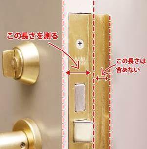 ドアの厚みを測ります