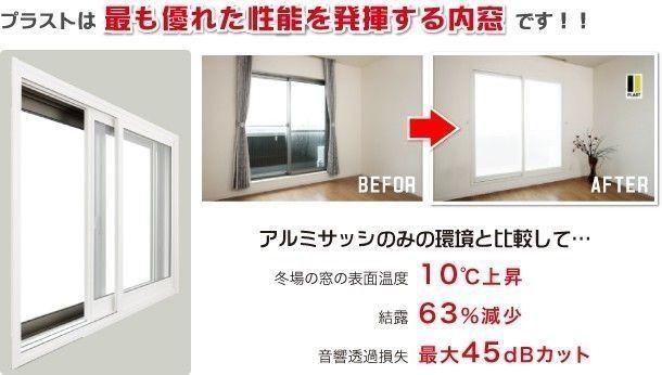 プラストは最も優れた性能を発揮する内窓です