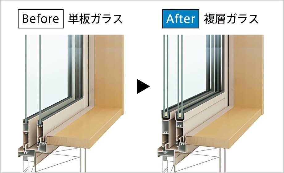 単板ガラスから複層ガラスへ