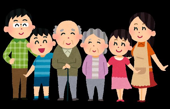 家族みんな笑顔