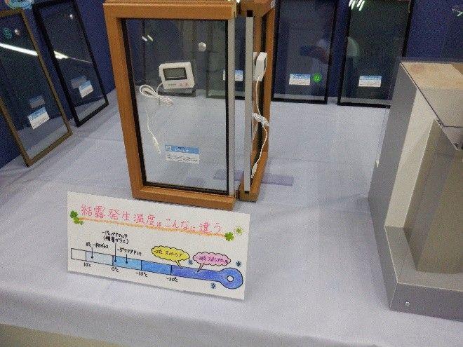 硝子表面の温度が下がるかを実験