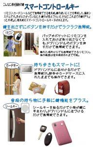 リモコン、カード、シールなどで施解錠できる電気錠