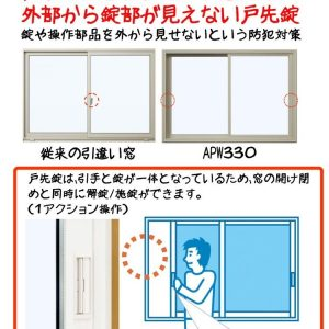 泥棒が侵入をあきらめる防犯性 侵入に手間取る窓