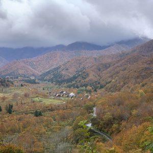冬へ向かう山の風景