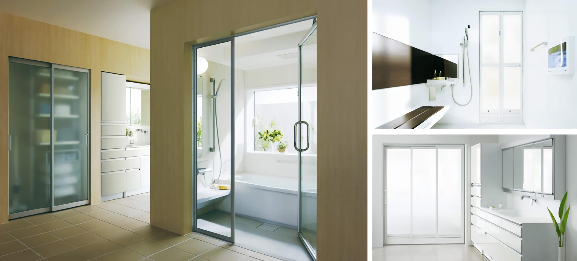壁を壊すさずお風呂場の出入口戸は取替可能