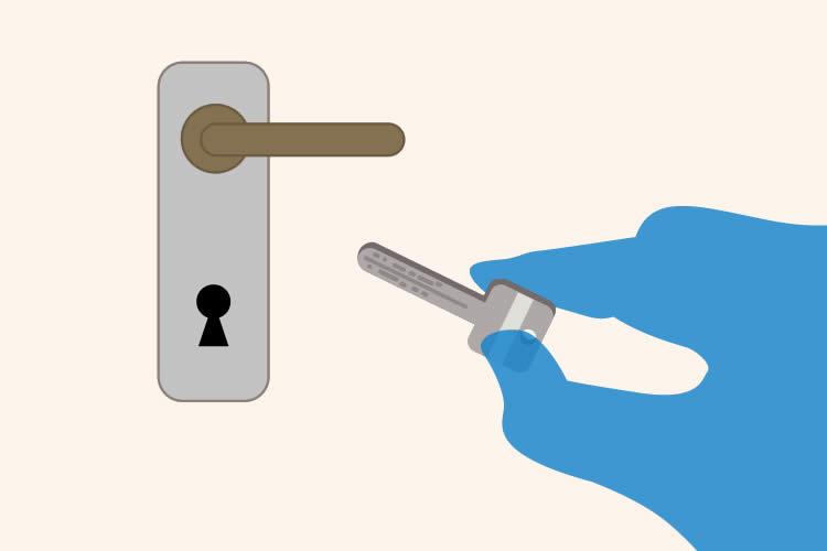 鍵や部品を交換