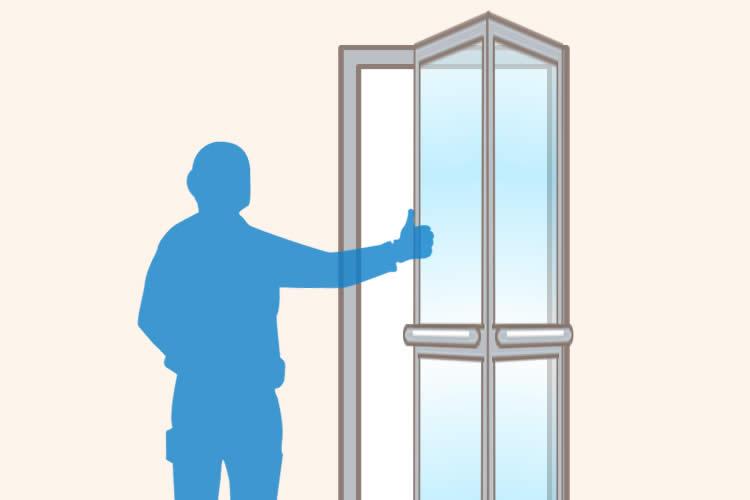 浴室ドアを交換
