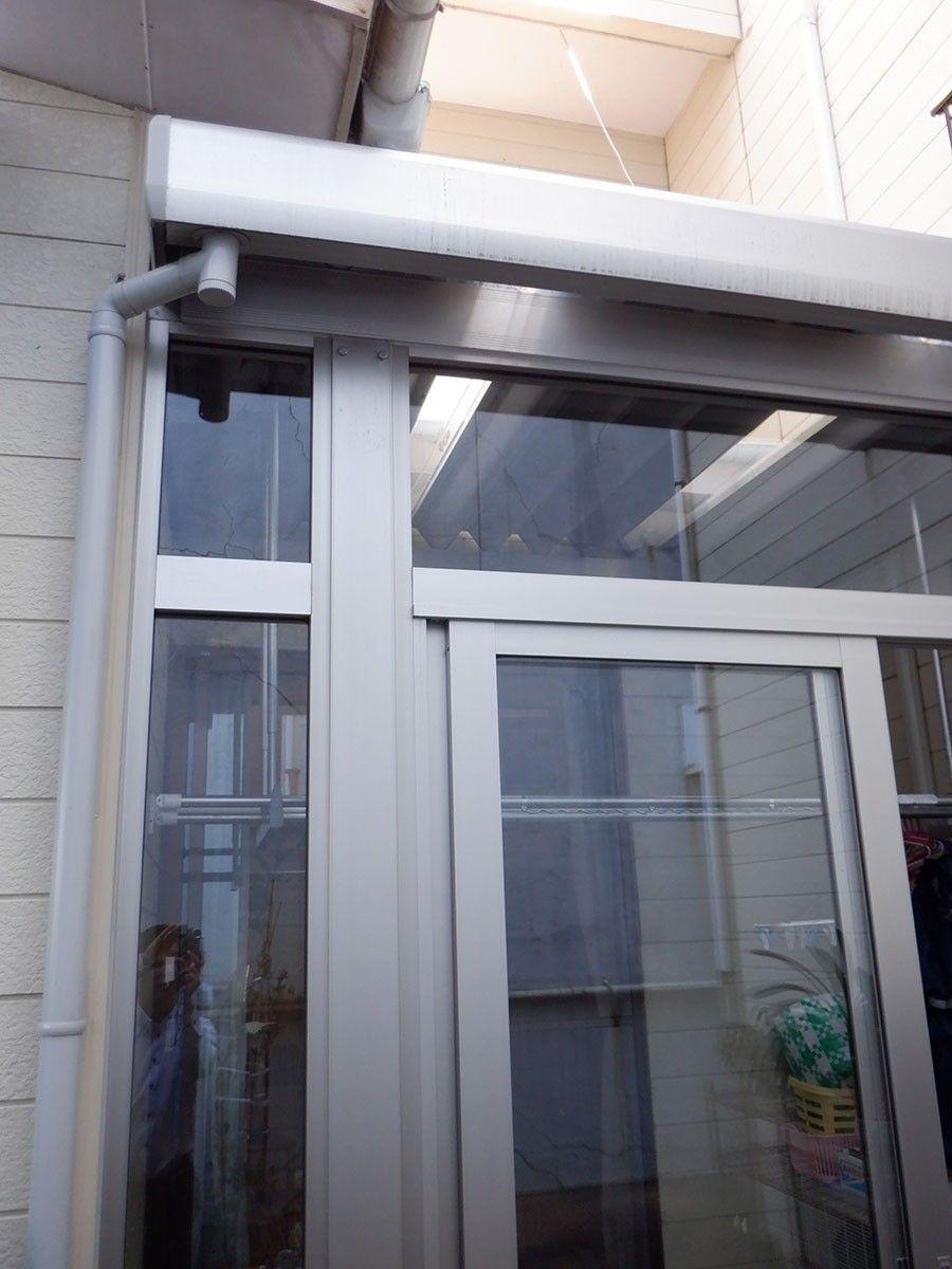 カーポート部材で風除室取付 in 新潟市中央区堀之内
