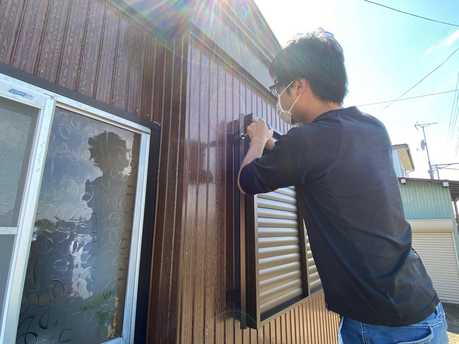 長岡市 多機能ルーバー設置工事~効率の良い換気と目隠し