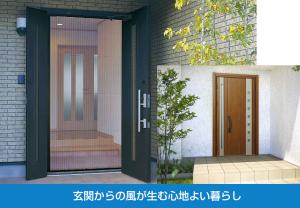 玄関からの風 通風ドアと網戸