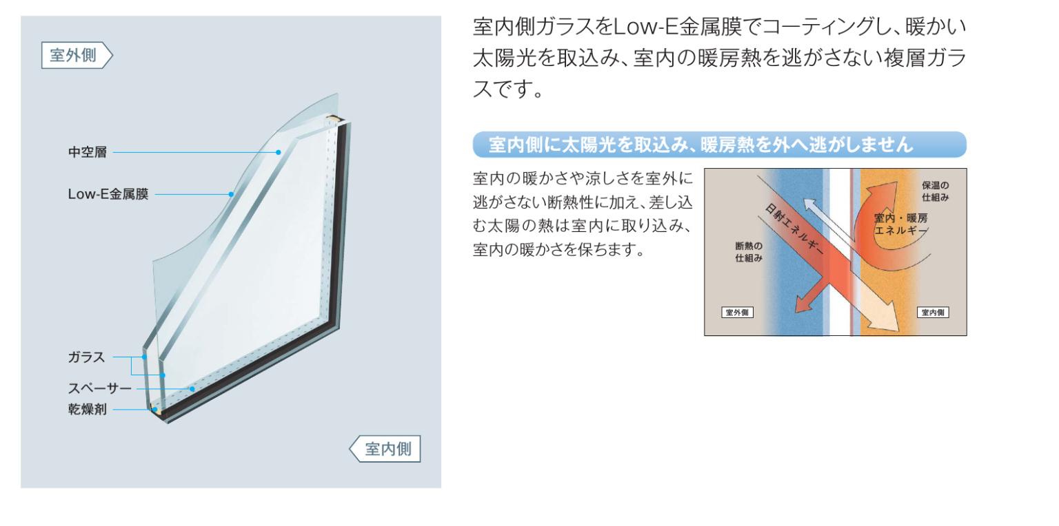 日射取得型Low-E複層ガラス