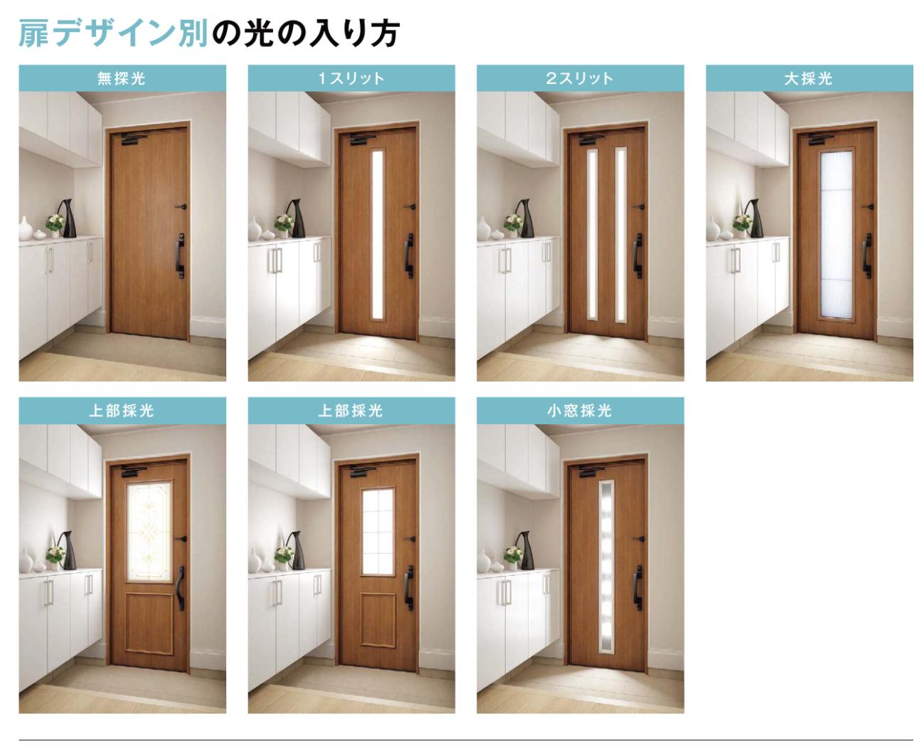 玄関ドアの採光